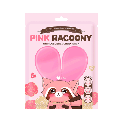 secret Key Pink Racoony Hydrogel Eye&Cheek Patch 3EA