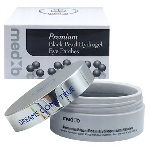 Premium Black Pearl Hydrogel Eye Patches