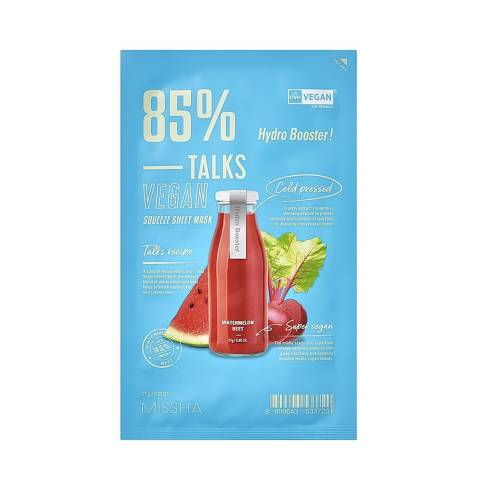TALKS VEGAN SQUEEZE SHEET MASK HYDRO BOOSTER