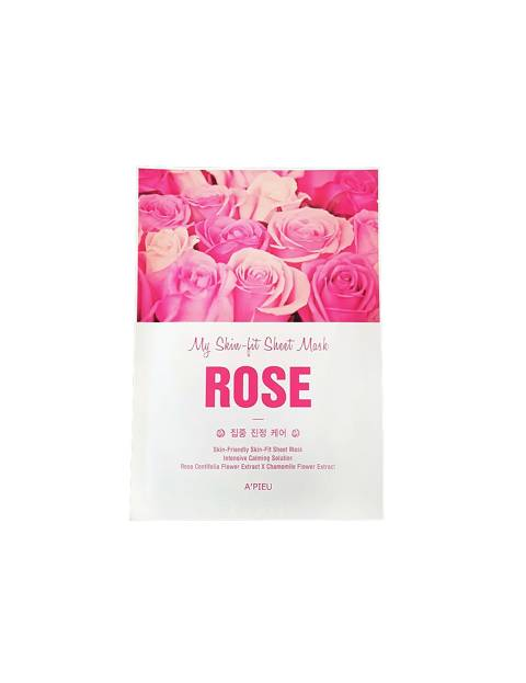 A'PIEU Skin-Fit Sheet Mask (Rose)