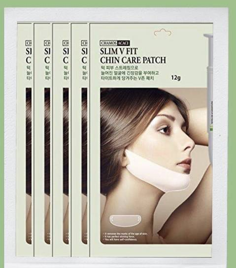 5 x Chamos V-line Lifting Slim Mask Pack, Chin Up, Slim V Fit Chin Care Patch