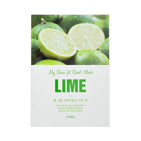 A'PIEU Skin-Fit Sheet Mask (Lime)
