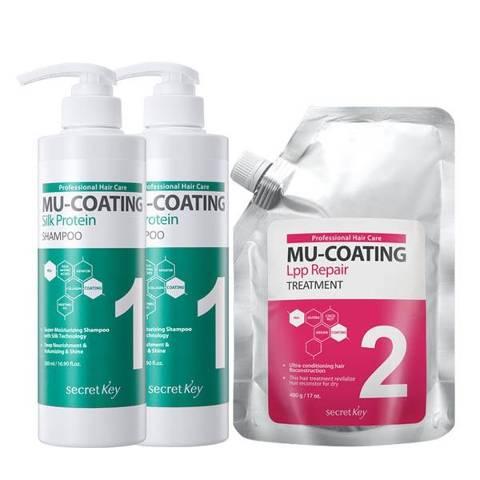 Pack Shampoo+acondicionador Secret Key Mu-Coating Silk Protein