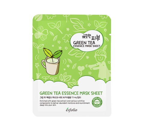 ESFOLIO PURE SKIN ESSENCE MASK SHEET (GREEN TEA)